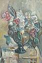 Pinchus KREMEGNE (Zaloudock, Biélorussie, 1890- Céret, 1981) VASE DE FLEURS, CIRCA 1940 Huile sur toile