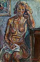 Pinchus KREMEGNE (Zaloudock, Biélorussie, 1890- Céret, 1981) NU BLEU, 1940 Huile sur toile