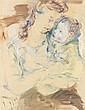 Michel KIKOINE (Gomel, 1892- Cannes, 1968) MATERNITE, 1943 Aquarelle sur papier