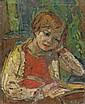 Michel KIKOINE (Gomel, 1892- Cannes, 1968) ENFANT LISANT, CIRCA 1940 Huile sur panneau