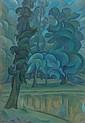 Vladimir BARANOFF-ROSSINE (Kherson, 1888 - Auschwitz, 1944) AU BORD DU LAC, CIRCA 1908-1912 Huile sur toile