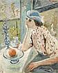 Jacques CHAPIRO (Dvinsk, 1887 - Paris, 1972) PORTRAIT DE FEMME, 1934 Huile sur toile