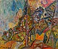 Pinchus KREMEGNE (Zaloudock, Biélorussie, 1890- Céret, 1981) PAYSAGE Huile sur toile
