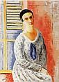 ¤ Moïse KISLING (Cracovie,1891-Sanary-s/mer,1953) PORTRAIT DE MADAME ANNA ZBOROWSKA, 1922 Huile sur toile