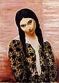¤ Moïse KISLING (Cracovie,1891-Sanary-s/mer,1953) JEUNE FILLE ASSISE AUX NATTES, 1930 Huile sur toile