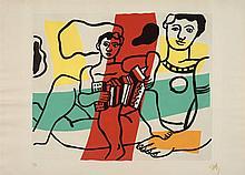 Fernand LEGER 1881 - 1955 L'ENFANT A L'ACCORDEON - 1953