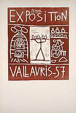 Pablo PICASSO 1881 - 1973 EXPOSITION VALLAURIS 57 - 1957