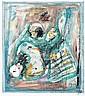 Hans REICHEL (Wurtzbourg, 1892- Paris, 1958) COMPOSITION # 78, 1954 Aquarelle et encre sur papier contrecollé sur le support cartonn...