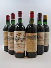 6 bouteilles 1 bt : CHÂTEAU CHASSE SPLEEN 1969 Moulis (légèrement bas, étiquette sale)