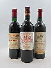 3 bouteilles 1 bt : CHÂTEAU COS D'ESTOURNEL 1986 2è GC Saint Estèphe