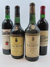 4 bouteilles 1 bt : CHÂTEAU D'AGASSAC 1961 Haut Médoc (base goulot)