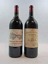 4 magnums 3 mags : CHÂTEAU DE SALES 1990 Pomerol (étiquettes léger tachées par l'humidité)