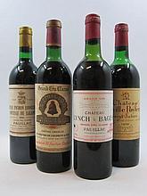 4 bouteilles 1 bt : CHÂTEAU ANGELUS 1967 1er GCC (B) Saint Emilion (haute épaule, étiquette fanée)