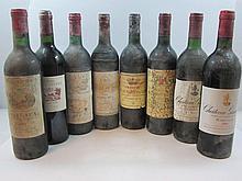 12 bouteilles 1 bt : CHÂTEAU BEL AIR MARQUIS D'ALIGRE 1989 3è GC Margaux ( étiquettes et capsules abimées )