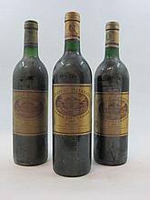 8 bouteilles  3 bts : CHÂTEAU BATAILLEY 1982 5è GC Pauillac (légèrement bas étiquettes fanées) 1 bt : CHÂTEAU BATAILLEY 1987 5è GC...