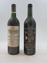 12 bouteilles 4 bts : CHÂTEAU BEAUSITE 1987 Saint Estèphe (étiquettes abimées)