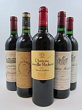5 bouteilles 2 bts : CHÂTEAU MONTROSE 1983 2è GC Saint Estèphe