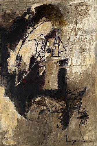 Albert BITRAN (né en 1929) LUMIERE D'AUTOMNE DANS L'ATELIER, 1963 Huile sur toile