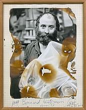 CESAR (1921 - 1998) AUTOPORTRAIT - 1971 Photographie brûlée sur papier