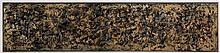 ARMAN (1928 - 2005) SANS TITRE - 1960 Encre sur papier marouflé sur toile