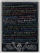 BEN (Né en 1935) LA NOUVELLE ANNEE SERA CATASTROPHIQUE - 1997 Acrylique sur toile