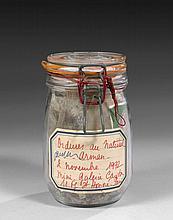 ARMAN (1928 - 2005) ORDURES AU NATUREL - 1972 Accumulation de déchets dans bocal de conserve