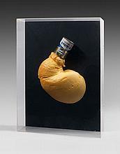 CESAR (1921 - 1998) EXPANSION MOBILOIL - 1968 Mousse polyuréthane et boîte de conserve sur panneau