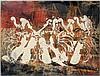 ARMAN (1928 - 2005) SANS TITRE - 1980 Technique mixte sur carton marouflé sur panneau