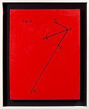 Bernar VENET (Né en 1941) FIG. 17, RELATIF A LA VITESSE D'UNE ETOILE - 1966 Marqueur noir sur plastique monté sur toile