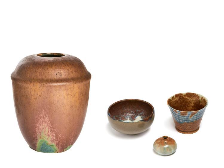 Auguste DELAHERCHE (1857-1940) Quatre céramiques
