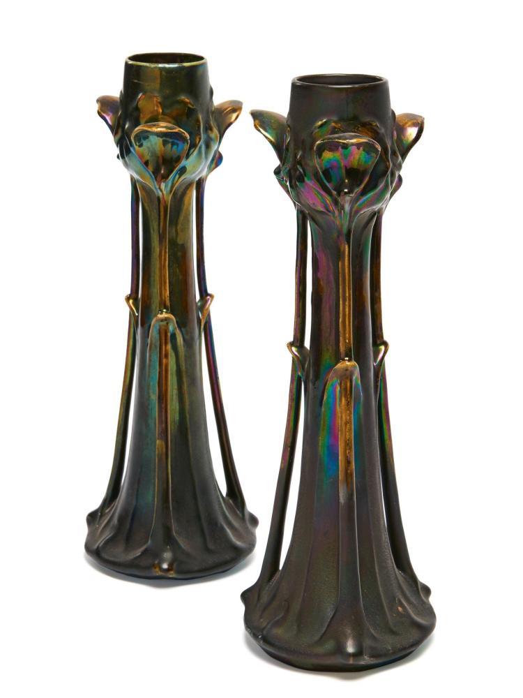 LOETZ (attribué à) Paire de vases