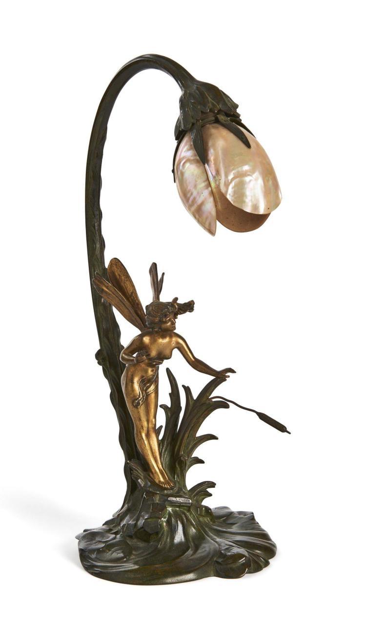 TRAVAIL FRANCAIS 1900 Lampe de table