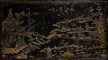 PANNEAU EN LAQUE BURGAUTÉ, CHINE, DYNASTIE QING, ÉPOQUE KANGXI (1662-1722)