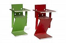 Gerrit Thomas RIETVELD (dans le goût de) Paire de chaises