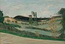 ¤ Joseph PRESSMANE 1904 - 1967 PAYSAGE DE BOURGOGNE - 1951-1952 Huile sur panneau d'Isorel
