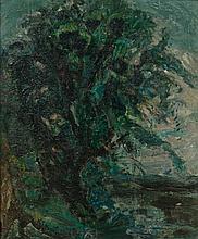 ¤ Michel KIKOINE 1892 - 1968 LE GROS ARBRE DE RETHONDES - 1955 Huile sur toile