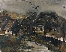 MANE-KATZ 1884 - 1962 PAYSAGE DES CARPATHES - 1930 Huile sur toile