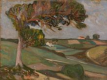 Alexandre ALTMANN 1885 - 1932 PAYSAGE A L'ARBRE Huile sur toile