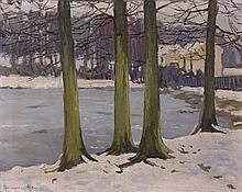 Alexandre ALTMANN 1885 - 1932 PAYSAGE D'HIVER Huile sur toile