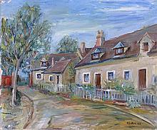 Henri EPSTEIN 1892 - 1944 RUE DE VILLAGE - 1934 Huile sur toile