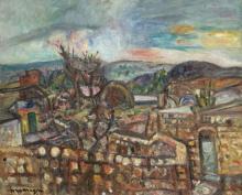 Pinchus KREMEGNE 1890 - 1981 JERUSALEM - Circa 1950 Huile sur toile