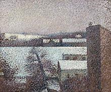 Léon POURTAU 1868 - 1898 PAYSAGE - Circa 1892-1893 Huile sur toile