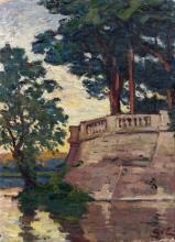 Georges d' ESPAGNAT 1870-1950 LE PARC Huile sur toile