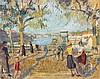 Jean PUY 1876 - 1960 LE PORT DE ROANNE - Circa 1936 Huile et crayons gras sur carton, Jean Puy, €8,000