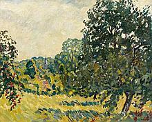 Louis VALTAT 1869 - 1952 LA VALLEE DE CHEVREUSE - 1926 Huile sur toile