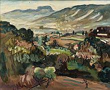 Emile-Othon FRIESZ 1879 - 1949 PAYSAGE DES ENVIRONS DE TOULON Huile sur toile