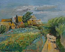 Constantin TERECHKOVITCH 1902 - 1978 LE VIEUX ROSCOFF Huile sur toile