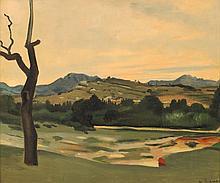 André DERAIN 1880 - 1954 PAYSAGE DE PROVENCE, LES ALPILLES - Circa 1932 Huile sur toile