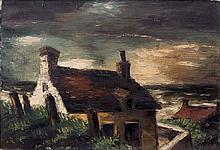 Frans MASEREEL 1889 - 1972 MAISONS A EQUIHEN - 1931 Huile sur toile