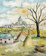 Celso LAGAR 1891 -1966 VILLAGE - 1931 Huile sur toile